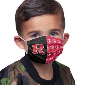Load image into Gallery viewer, Rutgers University Scarlet Knights Split Color logo pattern Kids Main Model View