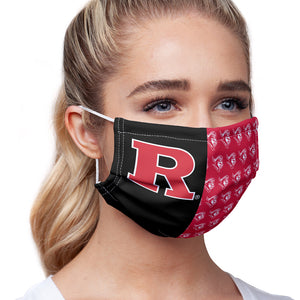 Rutgers University Scarlet Knights Split Color logo pattern Adult Main/Model View