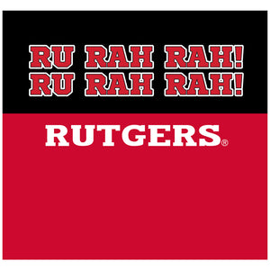 Rutgers Scarlet Knights - RU RAH RAH Adult Mask Design Full View
