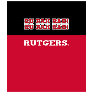 Rutgers Scarlet Knights - RU RAH RAH Kids Mask Design Full View