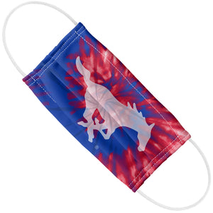 Load image into Gallery viewer, Southern Methodist University - SMU Mustangs Tie Dye Adult Flat View