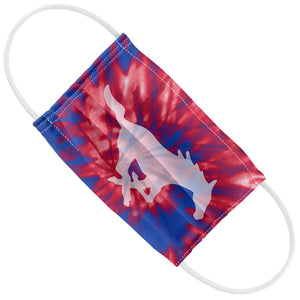 Load image into Gallery viewer, Southern Methodist University - SMU Mustangs Tie Dye Kids Flat View