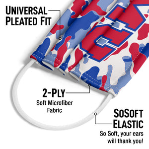 Southern Methodist University - SMU Mustangs Camo Adult Universal Pleated Fit, 2-Ply, SoSoft Elastic Earloops