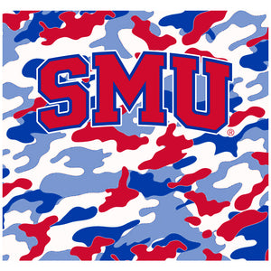 Southern Methodist University - SMU Mustangs Camo Adult Mask Design Full View