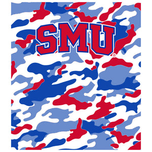 Load image into Gallery viewer, Southern Methodist University - SMU Mustangs Camo Kids Mask Design Full View