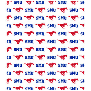 Load image into Gallery viewer, Southern Methodist University - SMU Mustangs Logo Repeat Away Kids Mask Design Full View