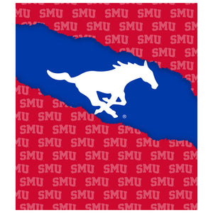 Load image into Gallery viewer, Southern Methodist University - SMU Mustangs Ripped Through Kids Mask Design Full View
