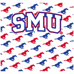 Load image into Gallery viewer, Southern Methodist University - SMU Mustangs Mascot White Adult Mask Design Full View