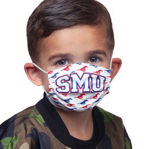 Load image into Gallery viewer, Southern Methodist University - SMU Mustangs Mascot White Kids Main Model View
