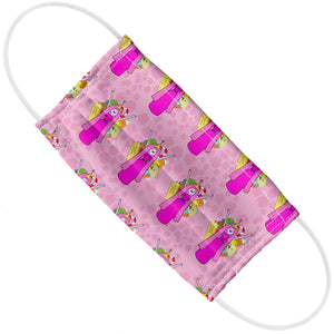 Adventure Time Princess Bubblegum Pattern Adult Flat View