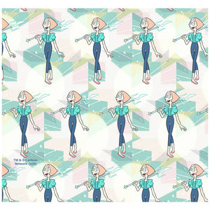 Load image into Gallery viewer, Steven Universe Pearl Pattern Adult Mask Design Full View