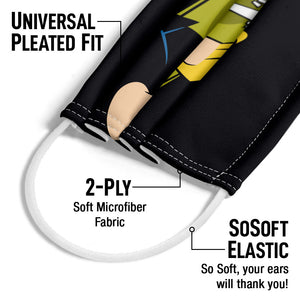 Load image into Gallery viewer, Johnny Bravo Oohh Mama Adult Universal Pleated Fit, 2-Ply, SoSoft Elastic Earloops