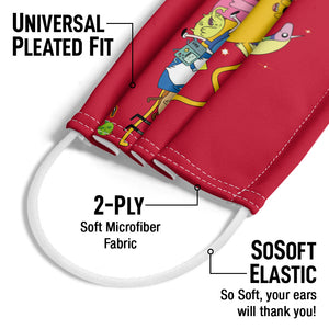 Adventure Time Outstretched Adult Universal Pleated Fit, 2-Ply, SoSoft Elastic Earloops
