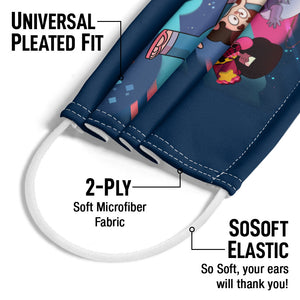Steven Universe Group Shot Adult Universal Pleated Fit, 2-Ply, SoSoft Elastic Earloops