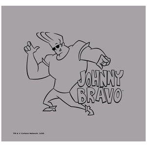 Load image into Gallery viewer, Johnny Bravo JB Line Art Adult Mask Design Full View