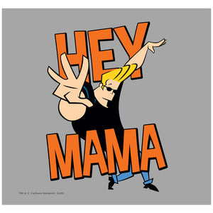 Load image into Gallery viewer, Johnny Bravo Hey Mama Adult Mask Design Full View