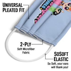The Powerpuff Girls The Girls Fly Adult Universal Pleated Fit, 2-Ply, SoSoft Elastic Earloops