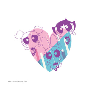 Load image into Gallery viewer, The Powerpuff Girls Powerpuff Heart Adult Mask Design Full View