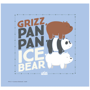 We Bare Bears Grizz Pan Pan Ice Bear Adult Mask Design Full View