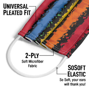 Crayola Colorful Stripes Adult Universal Pleated Fit, 2-Ply, SoSoft Elastic Earloops