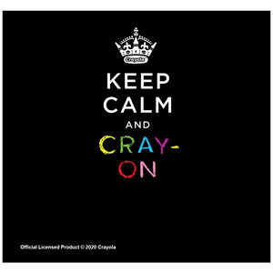 Crayola Keep Calm and Cray-on Adult Mask Design Full View