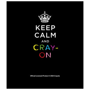 Crayola Keep Calm and Cray-on Kids Mask Design Full View