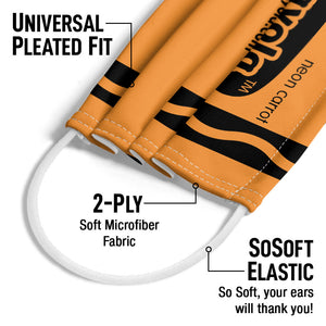 Crayola Neon Carrot Adult Universal Pleated Fit, 2-Ply, SoSoft Elastic Earloops