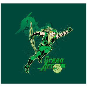 Justice League Green Arrow In Action Adult Mask Design Full View