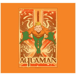 Load image into Gallery viewer, Aquaman Poster Adult Mask Design Full View