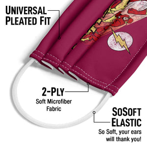 The Flash Crimson Comet Adult Universal Pleated Fit, 2-Ply, SoSoft Elastic Earloops