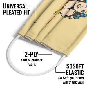 Load image into Gallery viewer, Wonder Woman Wonder at Large Adult Universal Pleated Fit, 2-Ply, SoSoft Elastic Earloops