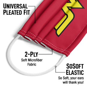 Wonder Woman Classic Logo Adult Universal Pleated Fit, 2-Ply, SoSoft Elastic Earloops