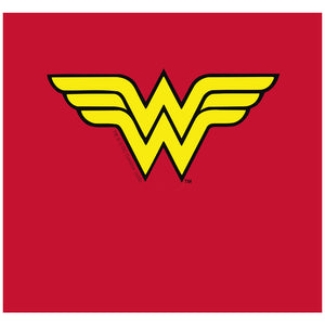Wonder Woman Classic Logo Adult Mask Design Full View