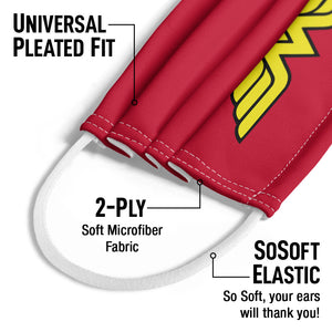 Wonder Woman Classic Logo Kids Universal Pleated Fit, 2-Ply, SoSoft Elastic Earloops