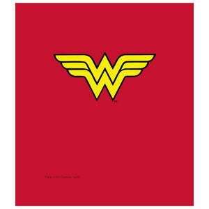 Wonder Woman Classic Logo Kids Mask Design Full View