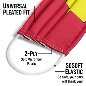 Load image into Gallery viewer, Justice League Shazam! Logo Adult Universal Pleated Fit, 2-Ply, SoSoft Elastic Earloops