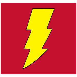 Load image into Gallery viewer, Justice League Shazam! Logo Adult Mask Design Full View