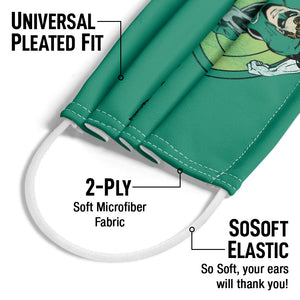 Green Lantern Circle Adult Universal Pleated Fit, 2-Ply, SoSoft Elastic Earloops