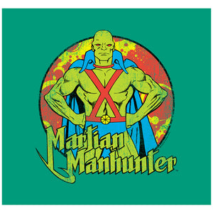 Justice League Martian Manhunter Circle Adult Mask Design Full View