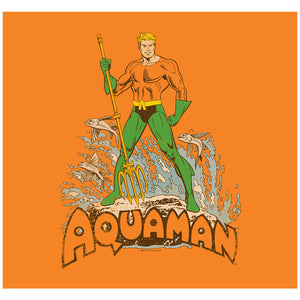 Load image into Gallery viewer, Aquaman Distressed Adult Mask Design Full View