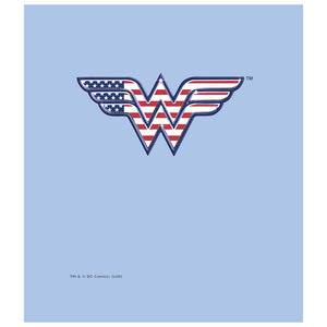 Wonder Woman Red, White & Blue Kids Mask Design Full View
