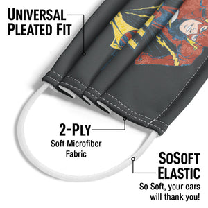 The Flash Desaturated Flash Adult Universal Pleated Fit, 2-Ply, SoSoft Elastic Earloops