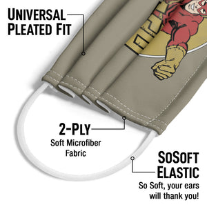 The Flash Flashy Adult Universal Pleated Fit, 2-Ply, SoSoft Elastic Earloops