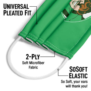 Green Lantern Lantern Circle Adult Universal Pleated Fit, 2-Ply, SoSoft Elastic Earloops