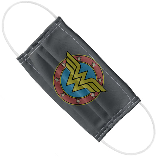Wonder Woman Vintage Emblem Adult Flat View