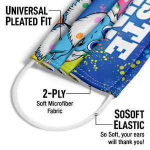 Dippin' Dots Taste the Fun Adult Universal Pleated Fit, 2-Ply, SoSoft Elastic Earloops