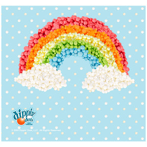 Dippin' Dots Rainbow Adult Mask Design Full View