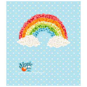 Dippin' Dots Rainbow Kids Mask Design Full View
