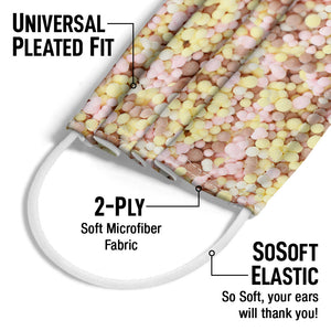 Dippin' Dots Banana Split Adult Universal Pleated Fit, 2-Ply, SoSoft Elastic Earloops