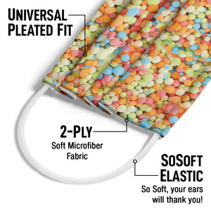 Dippin' Dots Rainbow Ice Adult Universal Pleated Fit, 2-Ply, SoSoft Elastic Earloops
